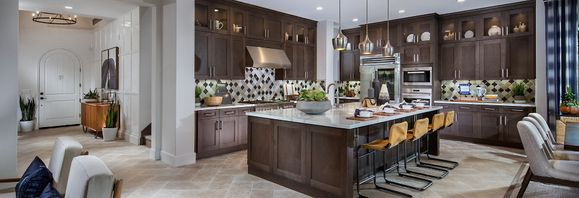 Plan 4 with large open kitchen and expansive islan:Plan 4 Kitchen