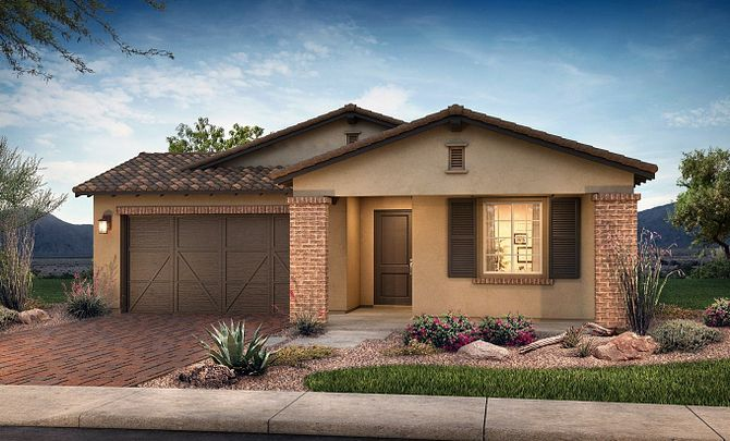 Plan 4011 Exterior B: Adobe Ranch:Exterior B: Adobe Ranch