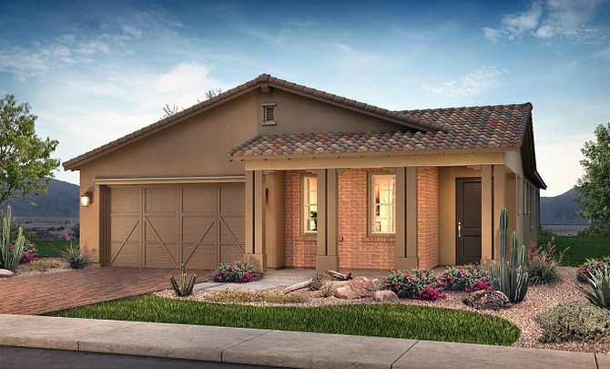 Plan 4012 Exterior B: Adobe Ranch:Exterior B: Adobe Ranch
