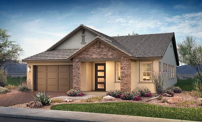 Exterior featured in the Plan 4014 By Shea Homes in Phoenix-Mesa, AZ