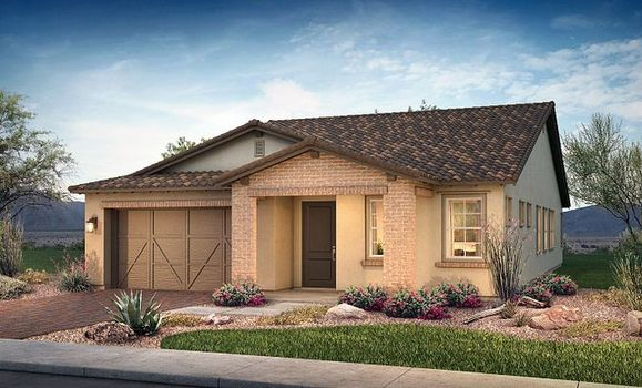 Plan 4014 Exterior B: Adobe Ranch:Exterior B: Adobe Ranch