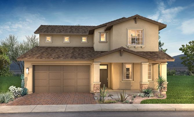 Exterior featured in the Plan 4015 By Shea Homes in Phoenix-Mesa, AZ