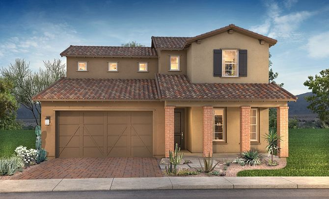 Plan 4015 Exterior B: Adobe Ranch:Exterior B: Adobe Ranch
