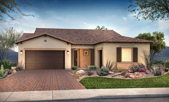 Plan 5013 Exterior B: Adobe Ranch:Exterior B: Adobe Ranch