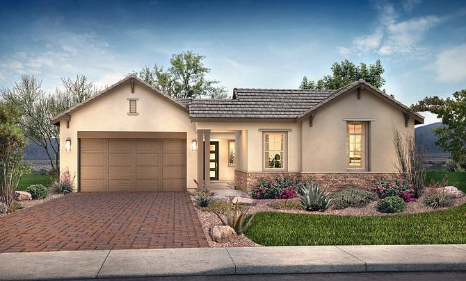 Exterior featured in the Plan 5014 By Shea Homes in Phoenix-Mesa, AZ
