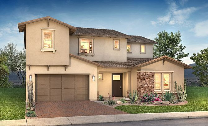 Plan 5015 Exterior D: Contemporary Craftsman:Exterior D: Contemporary Craftsman