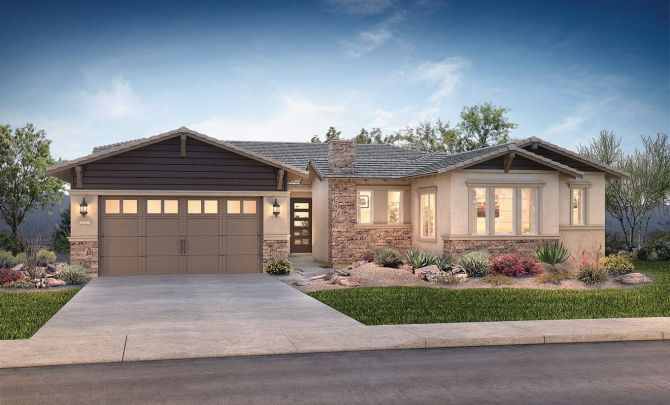 Evolve at Cantilena Renew Plan 5582 Contemporary C:Exterior D: Contemporary Craftsman