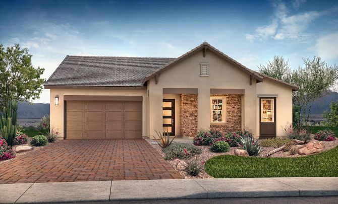 Evolve at Cantilena Plan 5012 Hill Country Exterio:Exterior C: Hill Country