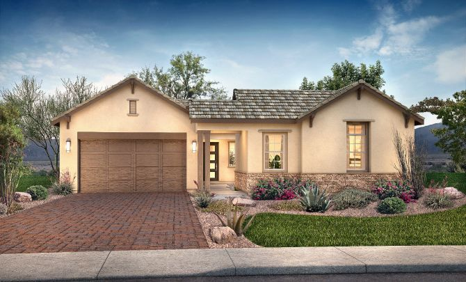 Plan 5014 Exterior C: Hill Country:Exterior C: Hill Country