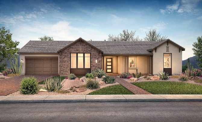 Plan 7512 Hill Country Exterior C:Exterior C: Hill Country