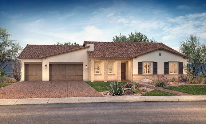 Plan 7514 Exterior B:Exterior B: Adobe Ranch