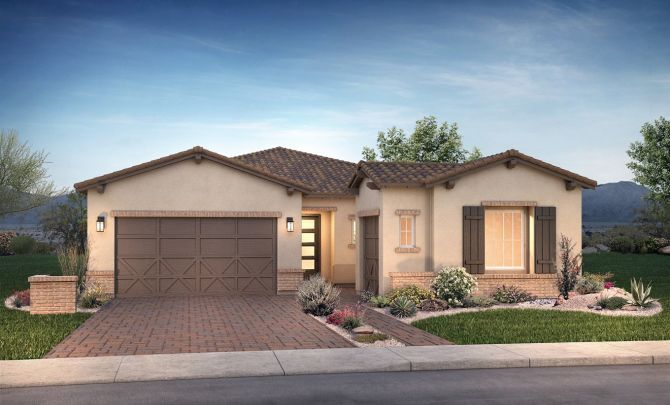 Plan Compel Exterior C: Adobe Ranch:Exterior C: Adobe Ranch