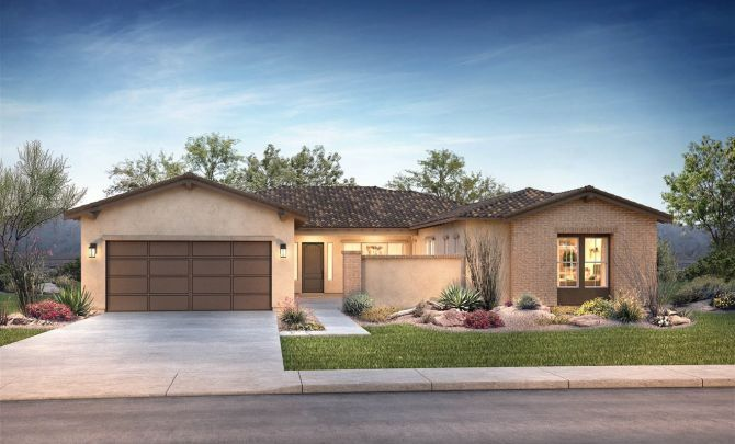Residence 1 Exterior B: Adobe Ranch:Exterior B: Adobe Ranch