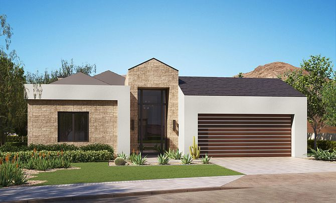 Exterior featured in the Residence 1 Single Level By Shea Homes in Phoenix-Mesa, AZ