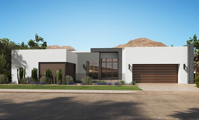 Exterior featured in the Residence 4 By Shea Homes in Phoenix-Mesa, AZ