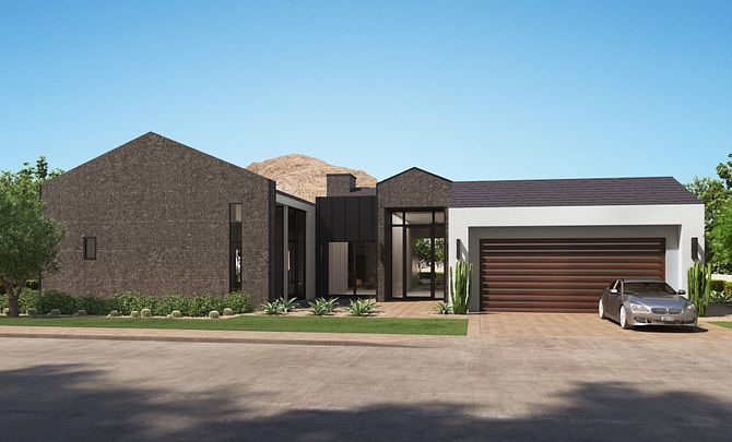 Exterior featured in the Residence 5 Single Level By Shea Homes in Phoenix-Mesa, AZ