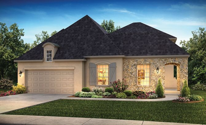 Exterior featured in the Plan 5129 By Shea Homes in Houston, TX