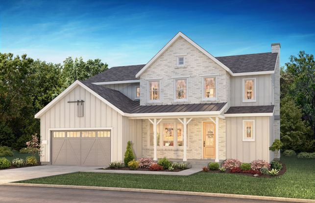 The Canyons Luxe Stratton Elevation A:Stratton Plan: Modern Farmhouse