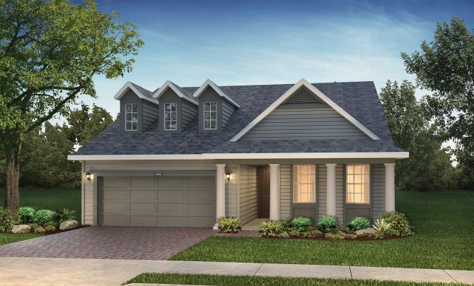 Trilogy at Ocala Preserve Cannes Elevation:Southern Colonial Elevation