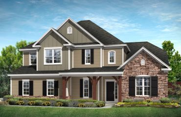 Redwood P elevation:Redwood P Exterior (will have front entry garage)