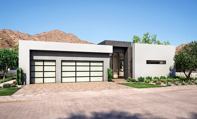 Exterior featured in the Residence 6 Single Level By Shea Homes in Phoenix-Mesa, AZ