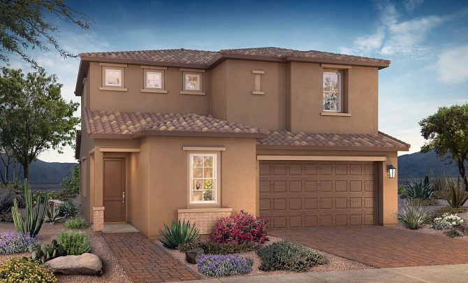 Exterior featured in the Plan 3503 By Shea Homes in Phoenix-Mesa, AZ