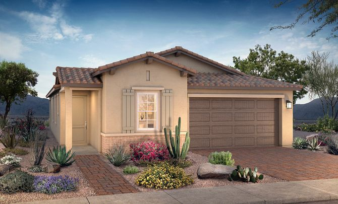 Exterior featured in the Plan 3502 By Shea Homes in Phoenix-Mesa, AZ