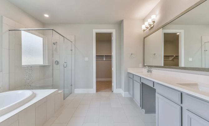 Bathroom featured in the Plan 5039 By Shea Homes in Houston, TX
