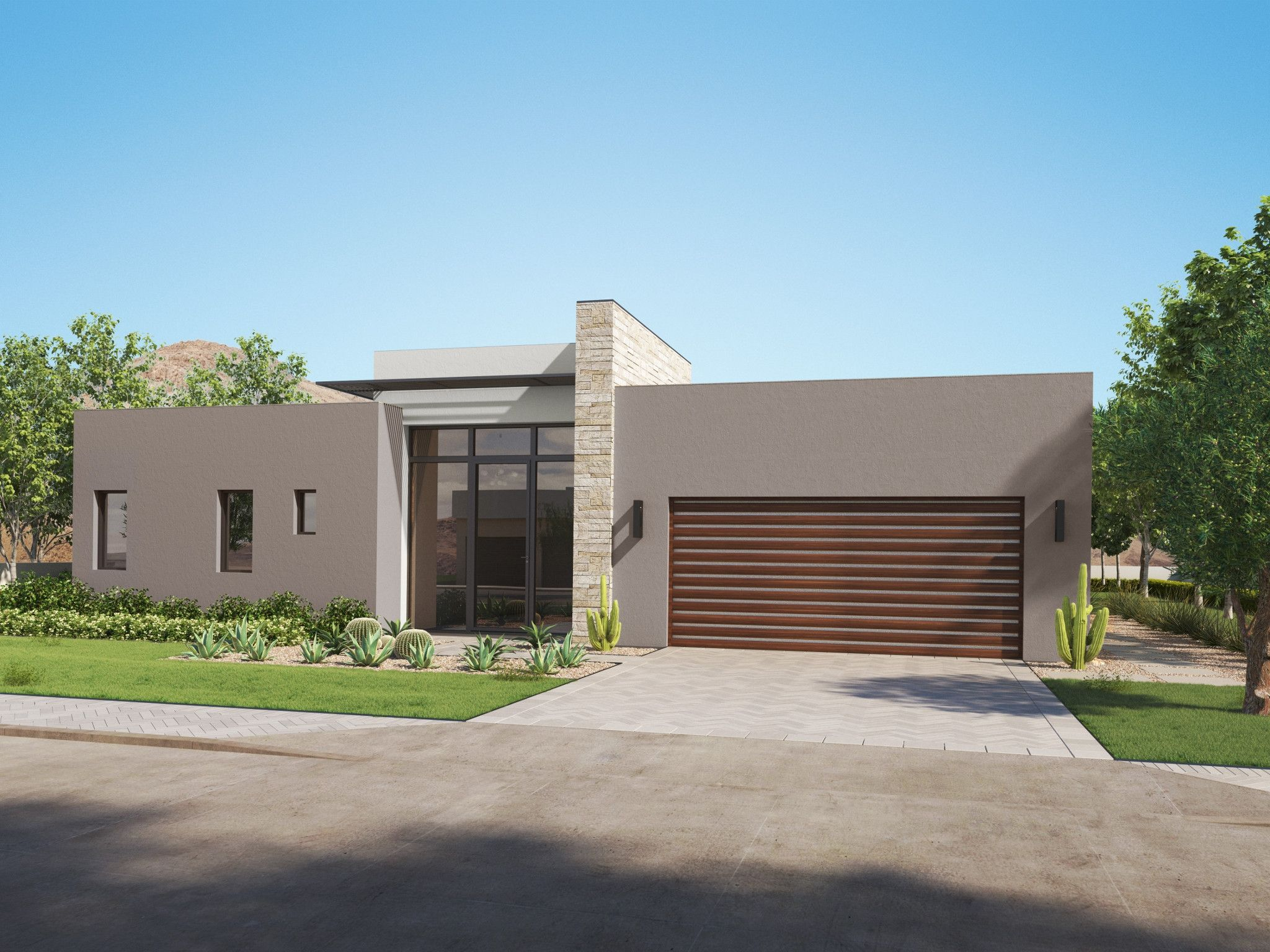 Exterior featured in the Residence 2 Single Level By Shea Homes in Phoenix-Mesa, AZ