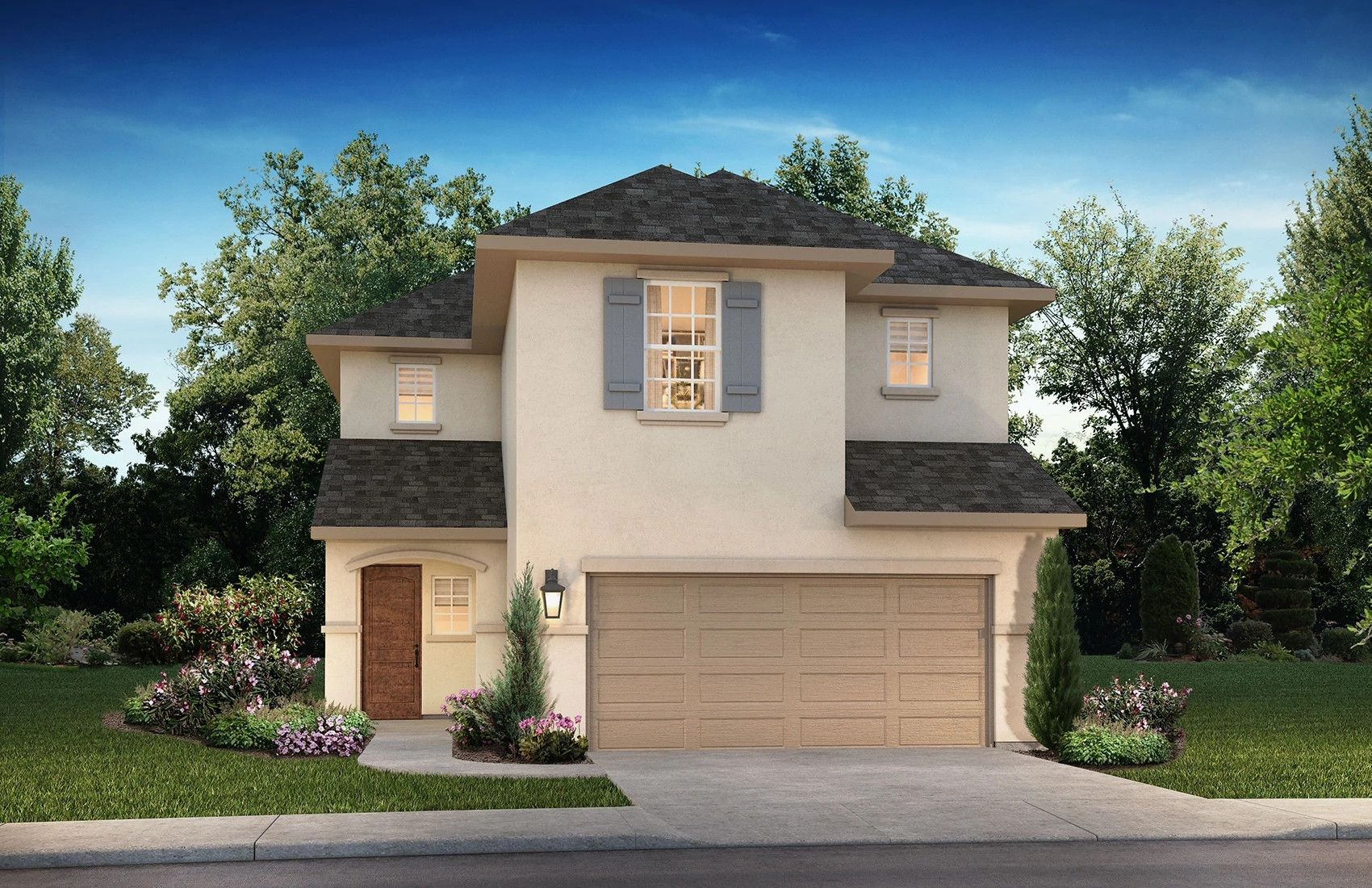 Exterior featured in the Plan 3069 By Shea Homes in Houston, TX