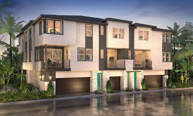Exterior featured in the Plan 3X By Shea Homes in San Diego, CA