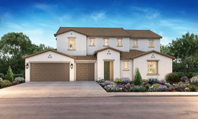 Exterior featured in the Plan 3 By Shea Homes in Stockton-Lodi, CA