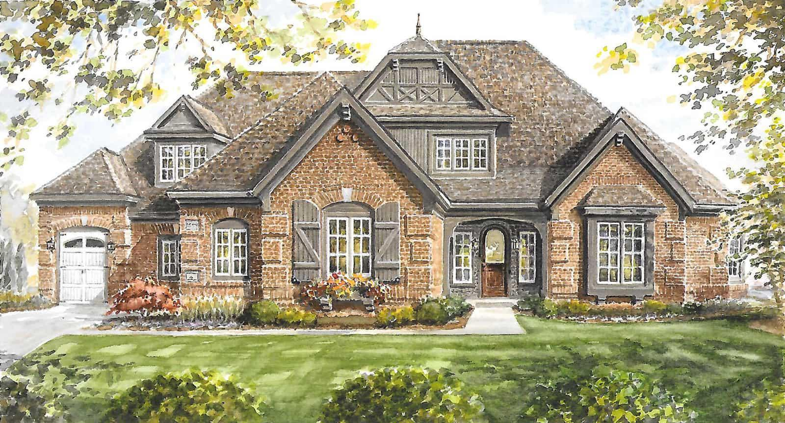 Exterior featured in The Falcon By Shoopman Homes in Indianapolis, IN