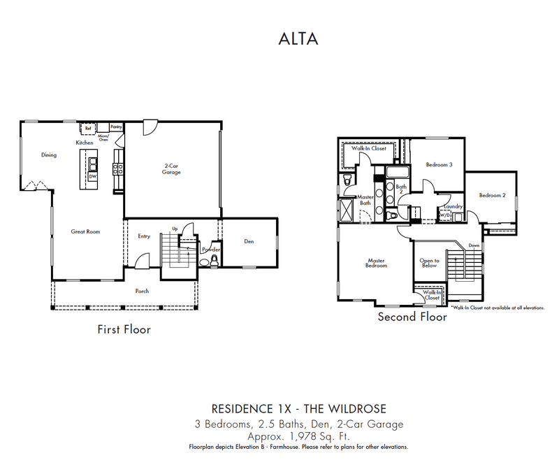 Floorplan - 1X The Wildrose