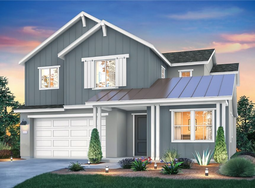 Exterior featured in the Residence 2 By Signature Homes CA in Santa Rosa, CA