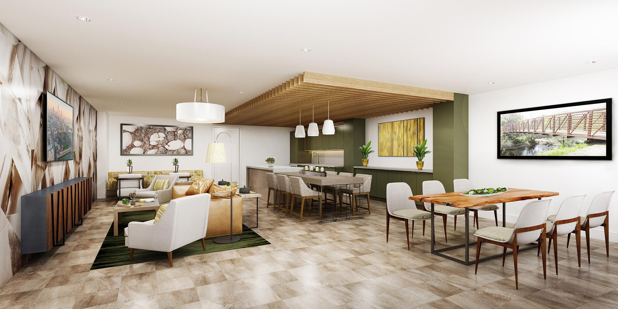 Living Area featured in the Almaden B4 By SiliconSage Builders in San Jose, CA