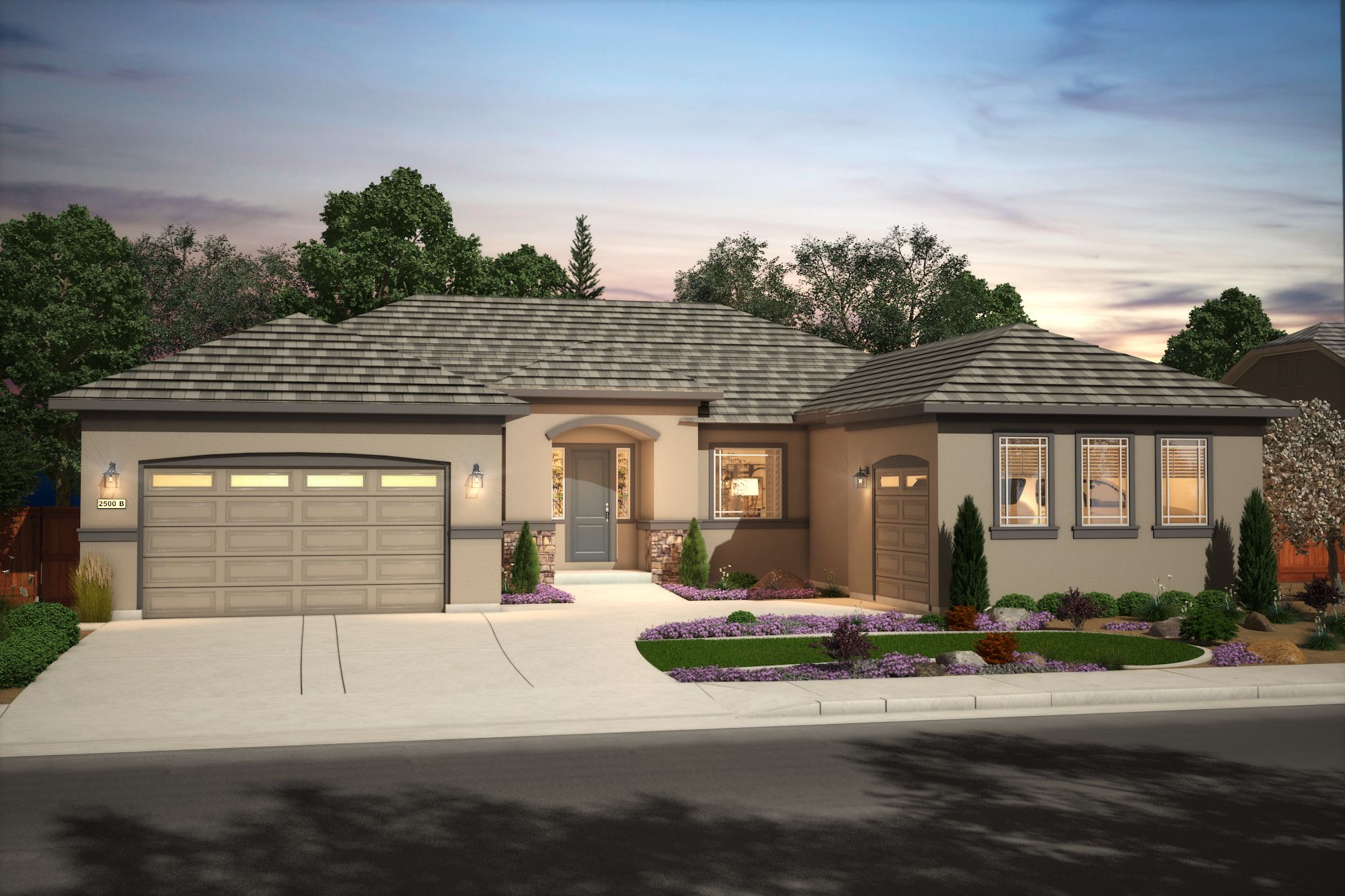Exterior featured in the Plan Three By Silverado Homes in Reno, NV