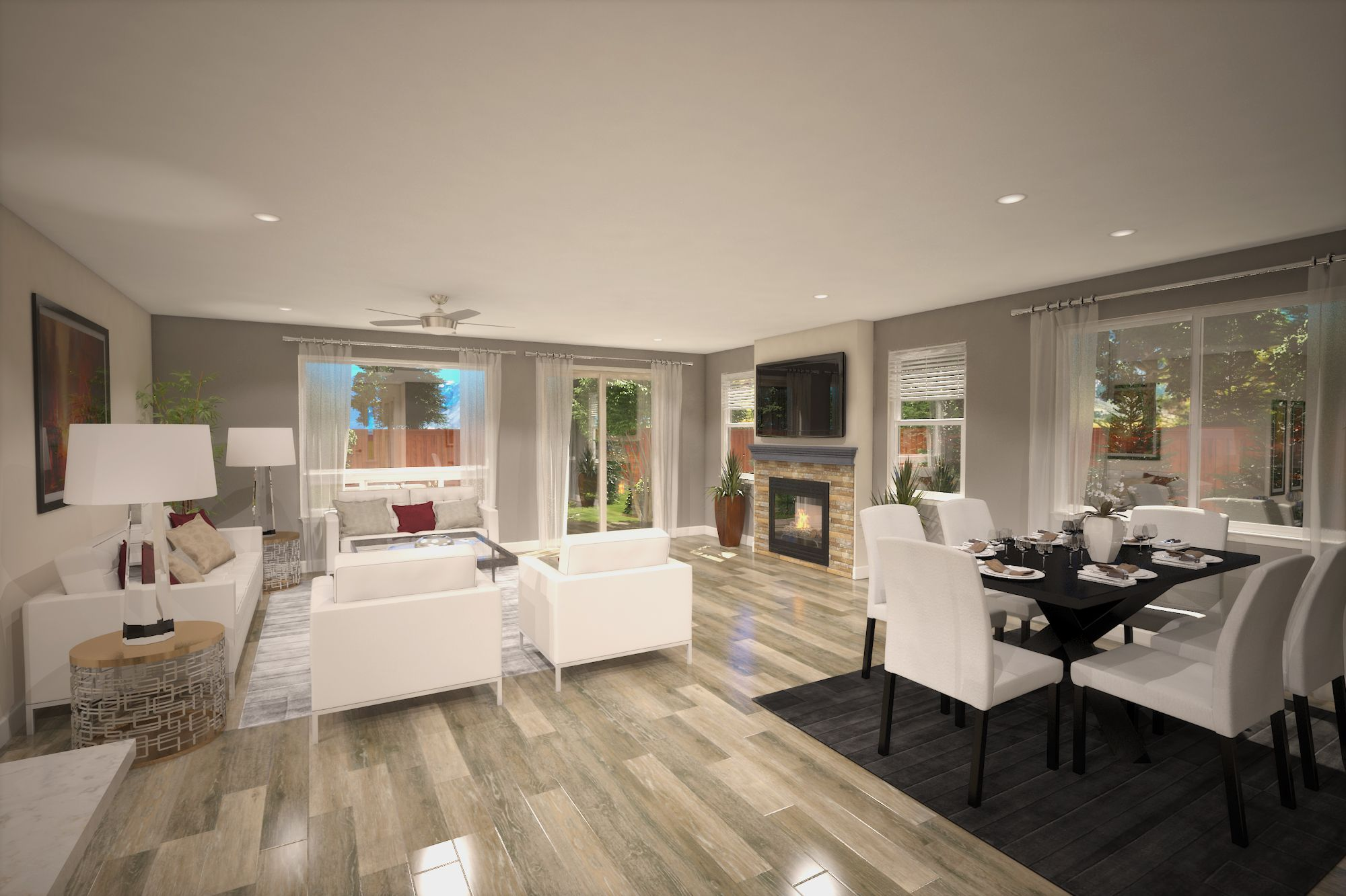 Living Area featured in the Plan One By Silverado Homes in Reno, NV