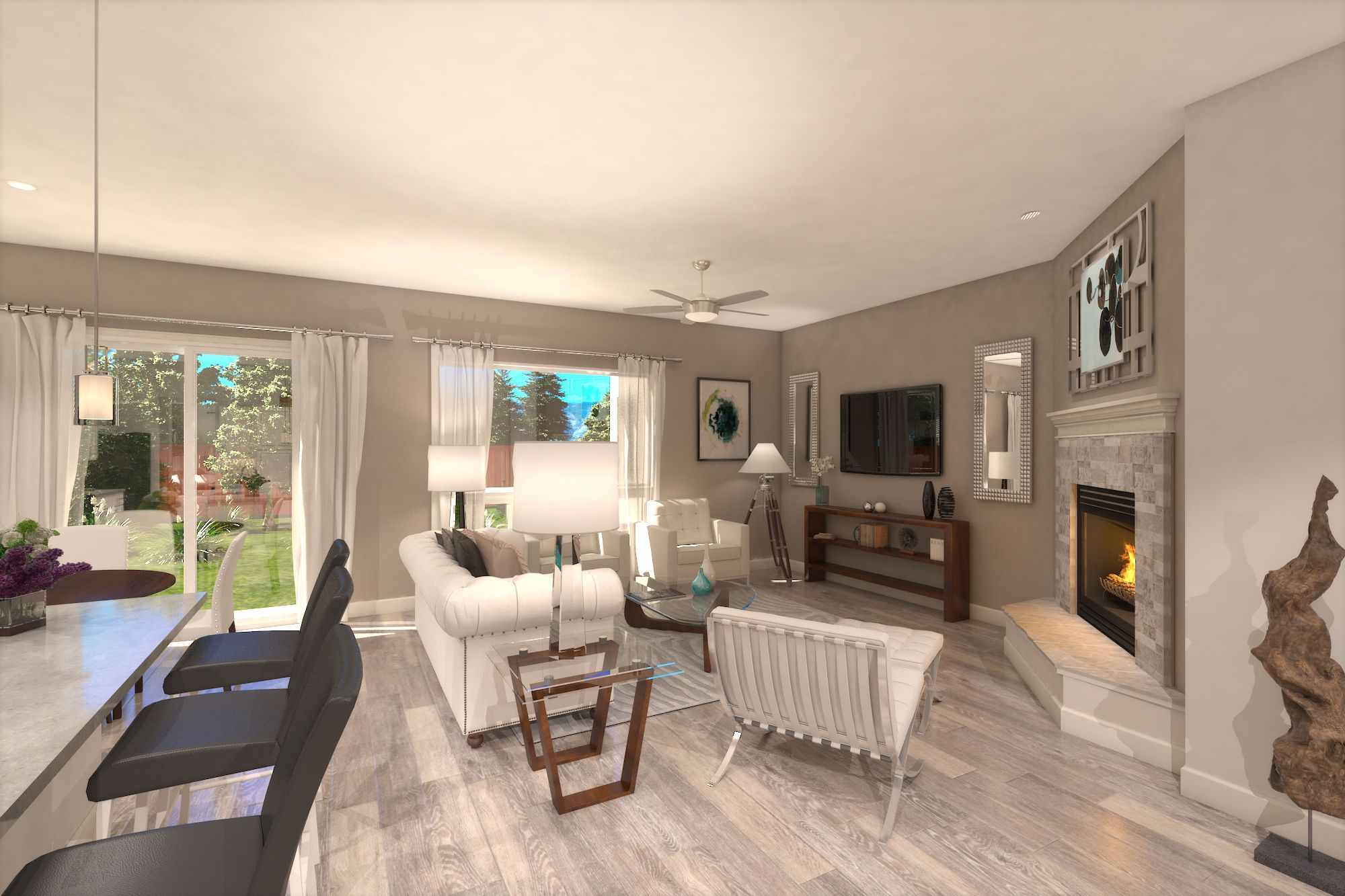 Living Area featured in the Plan Two By Silverado Homes in Reno, NV