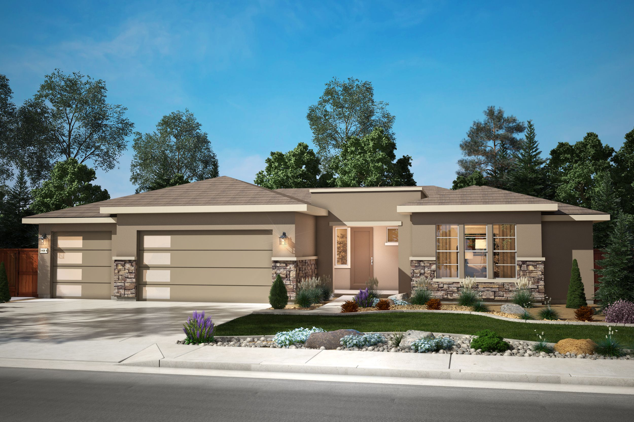 Exterior featured in the Plan 2 By Silverado Homes in Reno, NV