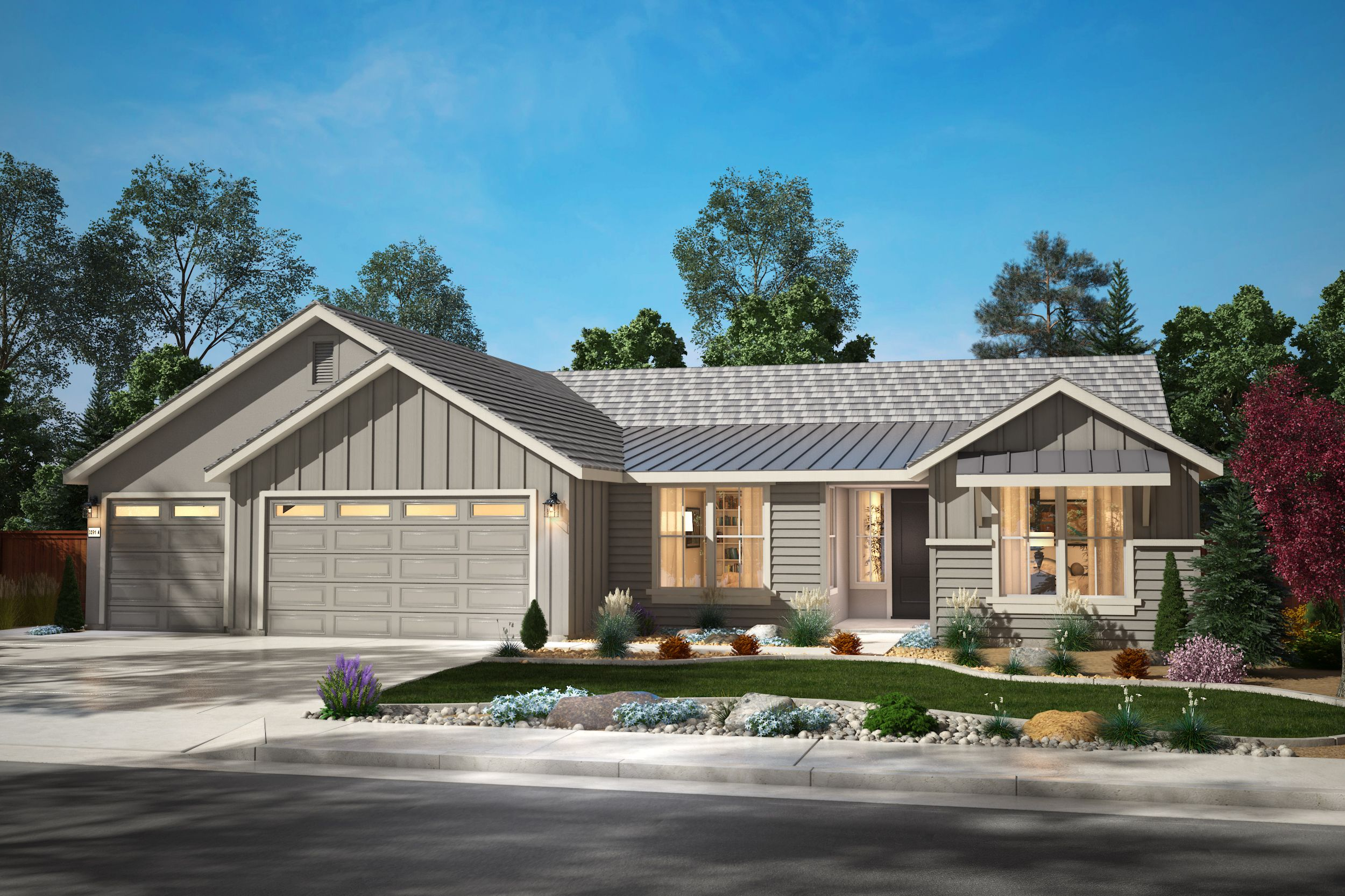 Exterior featured in the Plan 3 By Silverado Homes in Reno, NV
