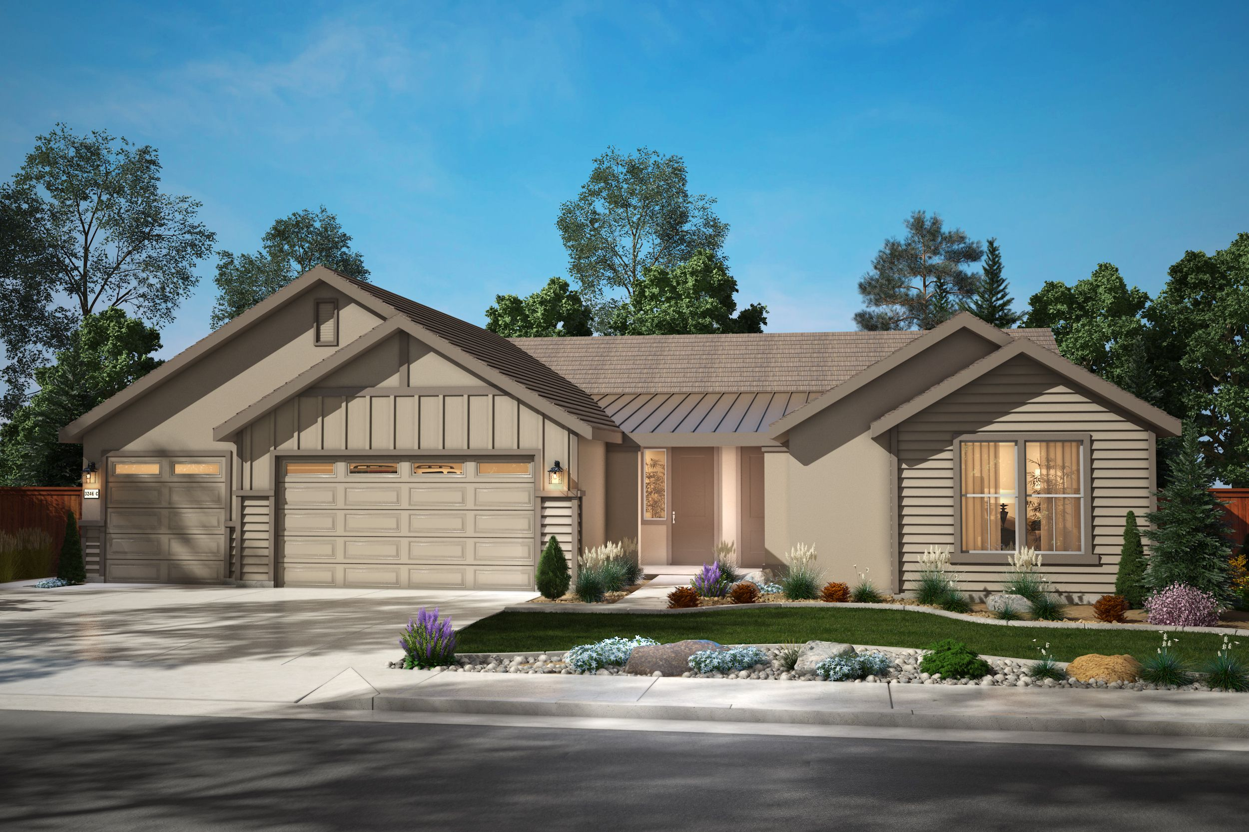 Exterior featured in the Plan 4 By Silverado Homes in Reno, NV