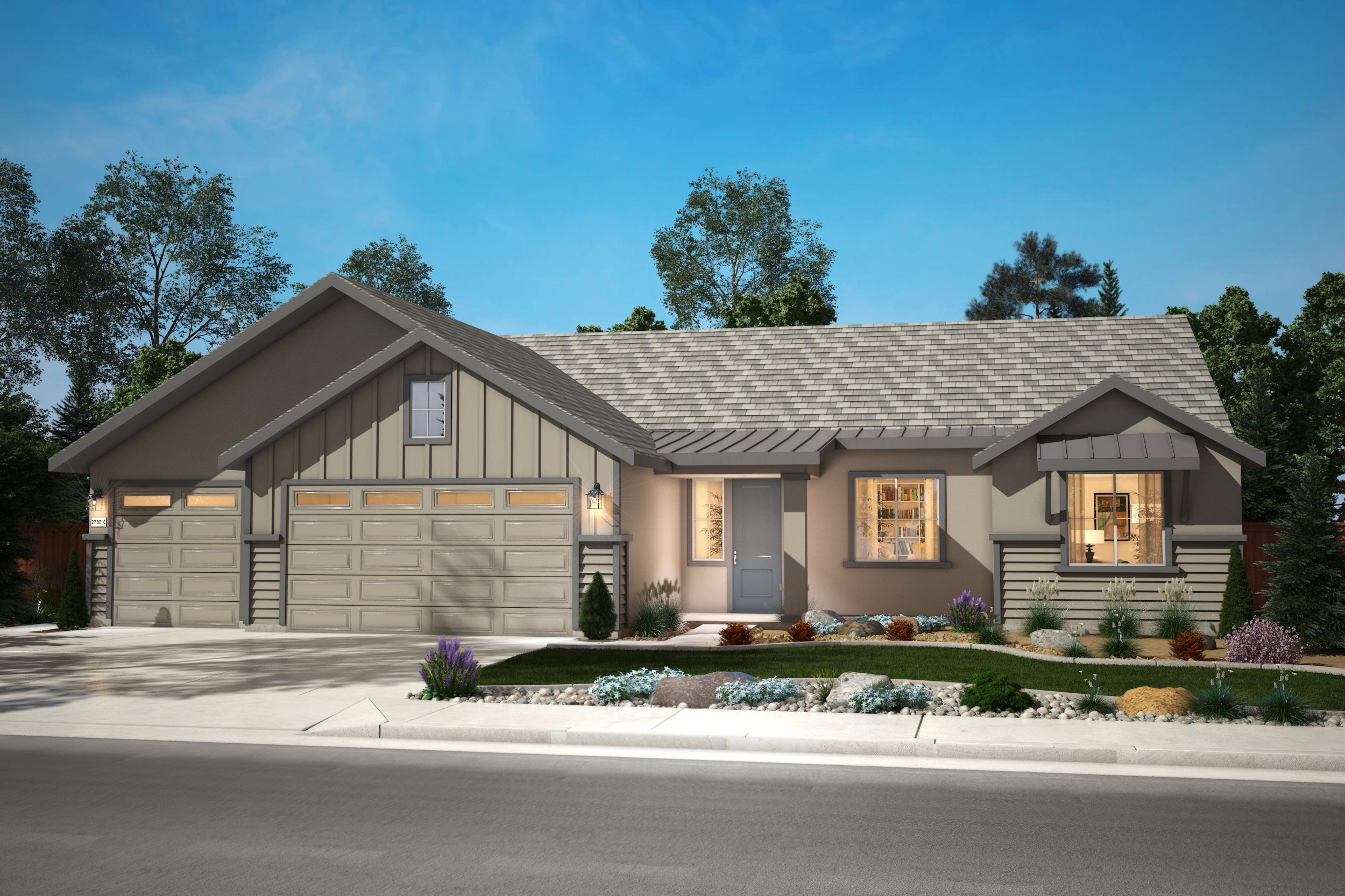 Exterior featured in the Plan 1 By Silverado Homes in Reno, NV