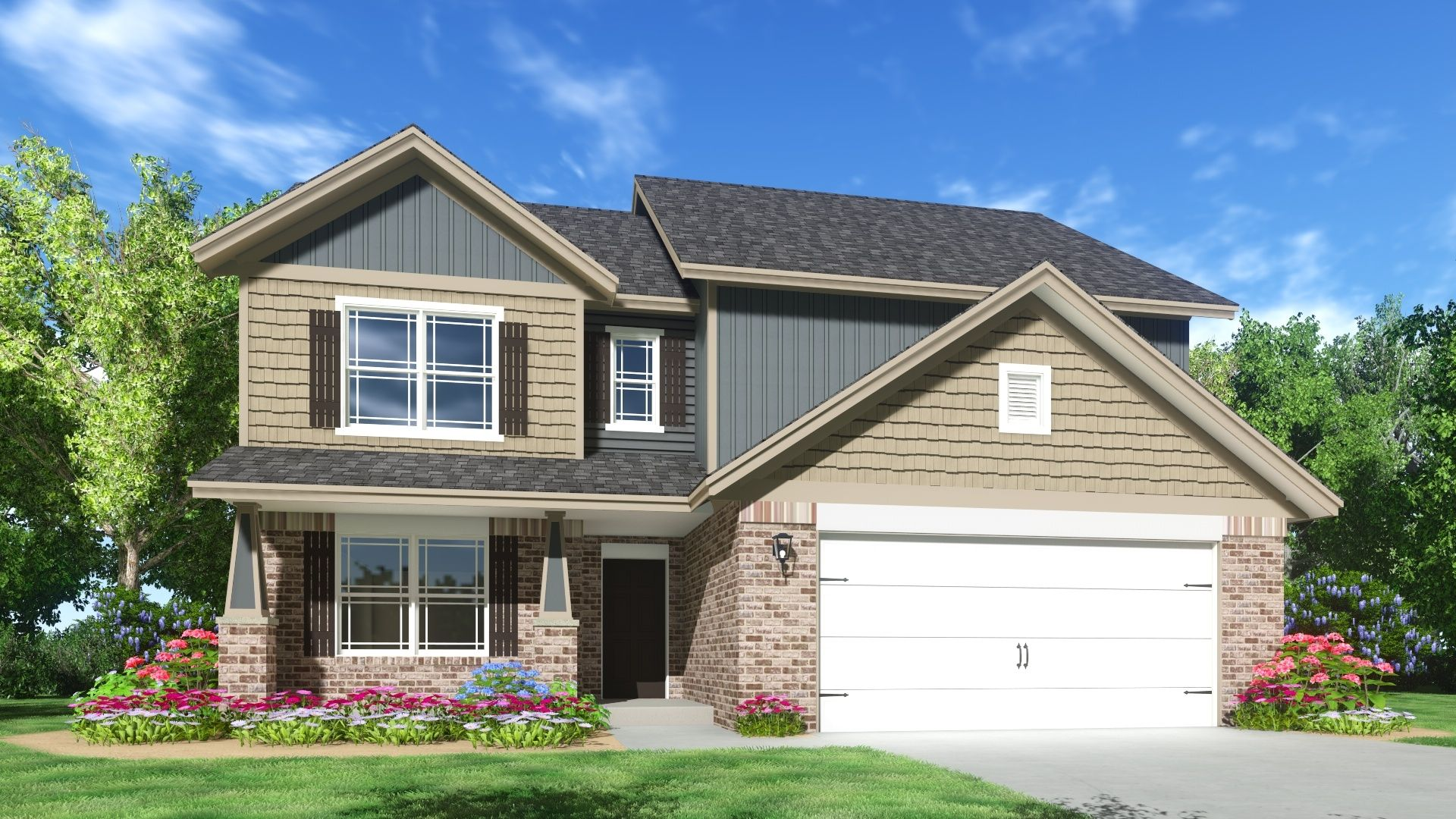 Exterior featured in The Lincoln By Silverthorne Homes in Indianapolis, IN