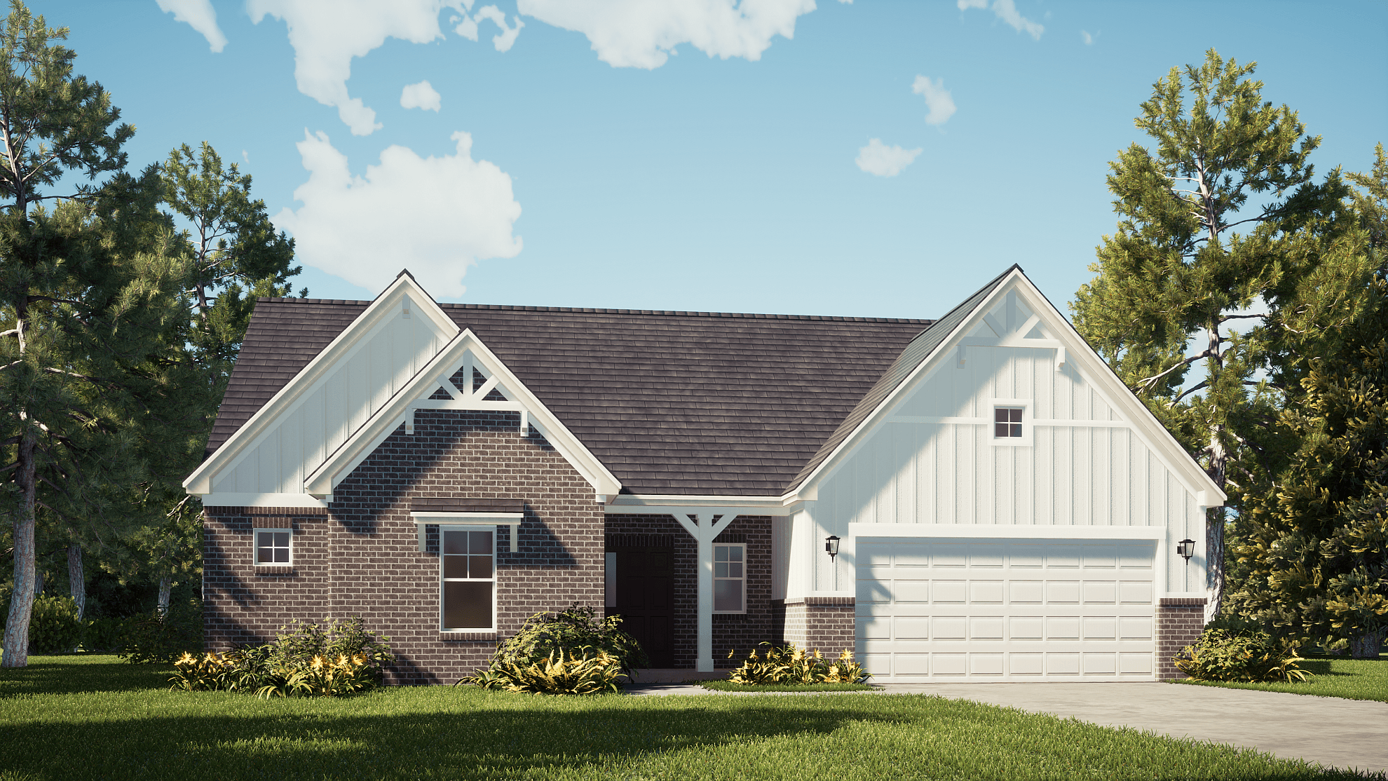 Exterior featured in The Taylor By Silverthorne Homes in Indianapolis, IN