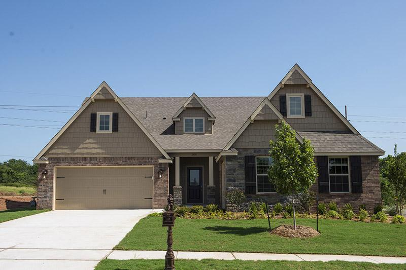 Exterior featured in the Bailey By Simmons Homes Inc. in Tulsa, OK