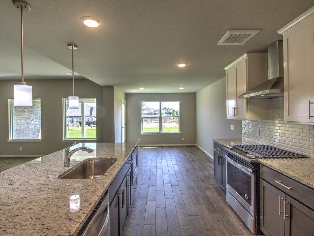 Kitchen featured in the Drake By Simmons Homes Inc. in Tulsa, OK