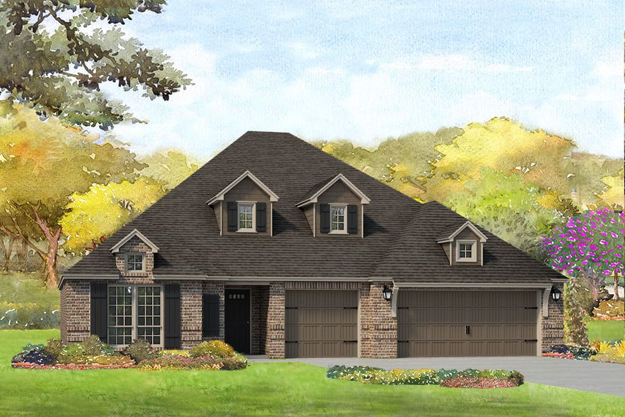 Exterior featured in the Pierson By Simmons Homes in Tulsa, OK