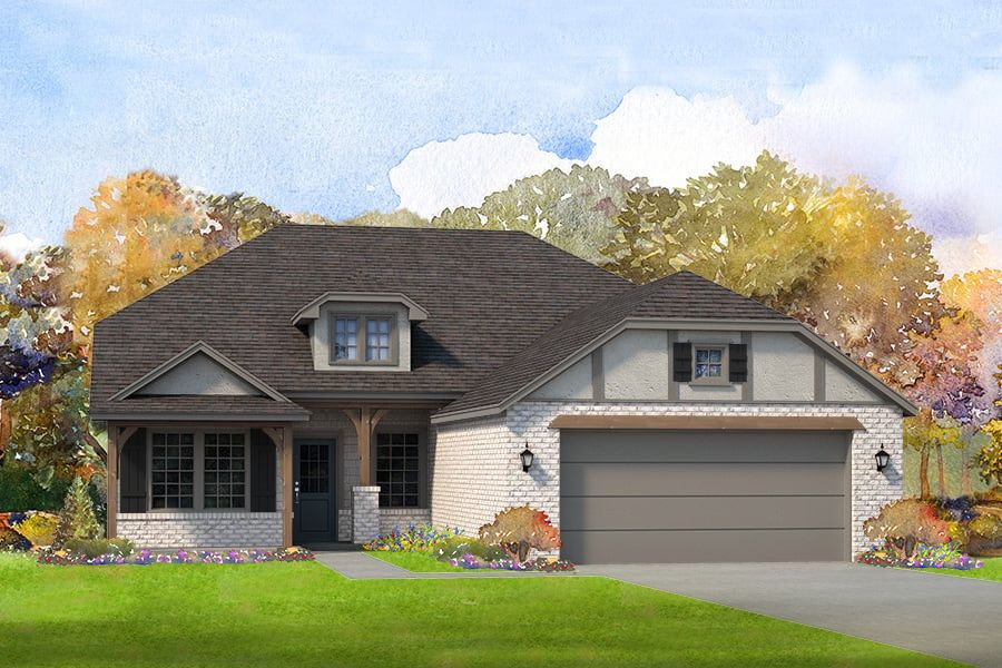 Exterior featured in the Whitworth By Simmons Homes Inc. in Tulsa, OK
