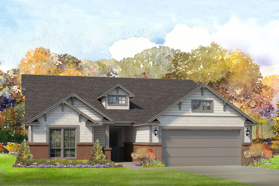 Exterior featured in the Owen By Simmons Homes Inc. in Tulsa, OK